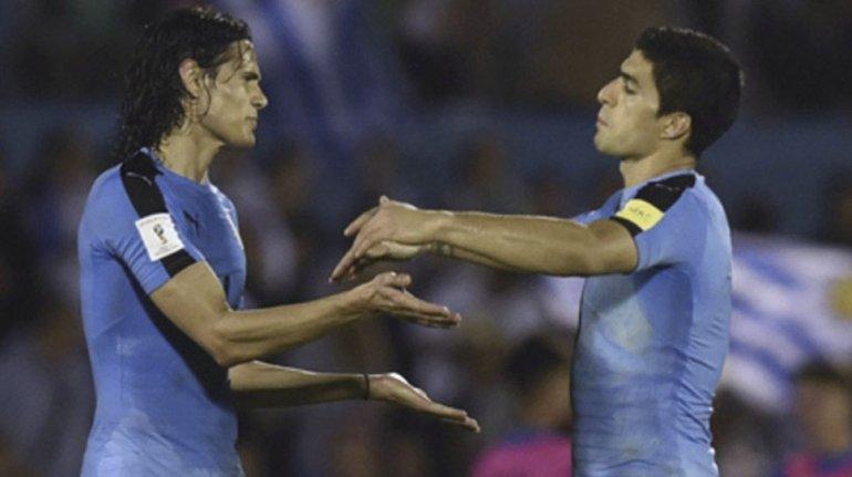 El gran poderío de Uruguay está en la dupla ofensiva que integran Luis Suárez y Edinson Cavani.