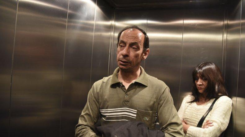 Babacic en los pasillos de la clínica Española diálogo con El Patagónico sobre la agresión que sufrió el martes a la mañana.