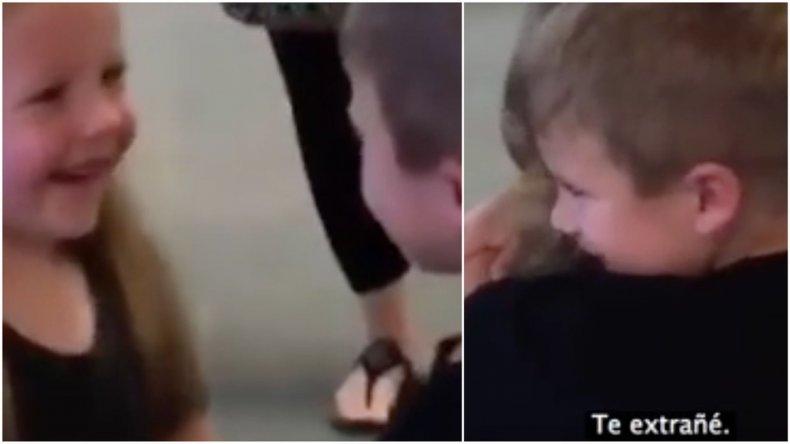 El video más tierno: la emoción de dos nenes que no se veían hace más de un año
