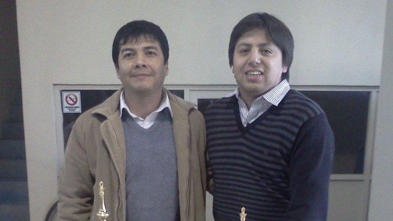 Fernando Rocabado –izq- junto a Andrés Aguilar