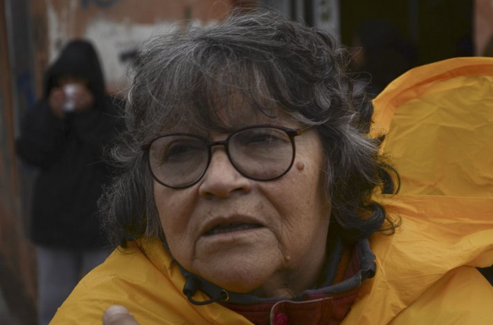 La presidenta de la asociación vecinal del barrio Restinga Alí