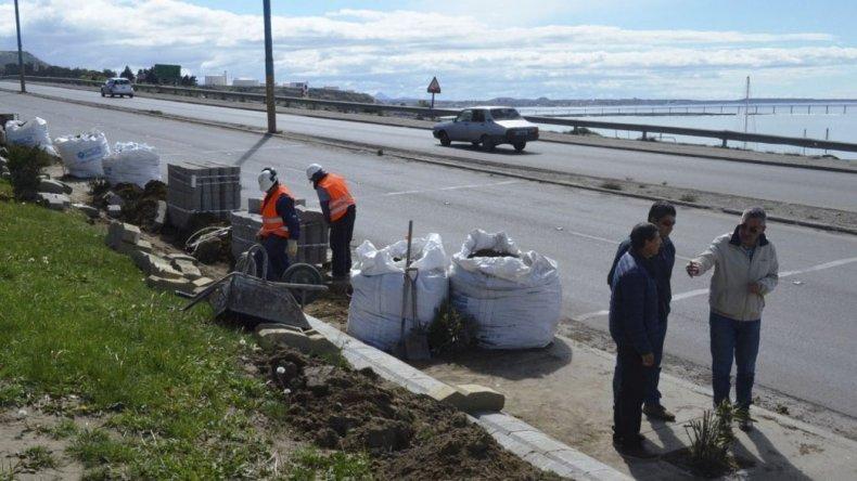Los trabajos realizados en la plaza situada en el ingreso norte del casco céntrico sobre Güemes y Sarmiento.