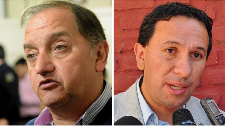 El intendente comodorense Carlos Linares es el principal referente de la lista Azul mientras el intendente de Trelew