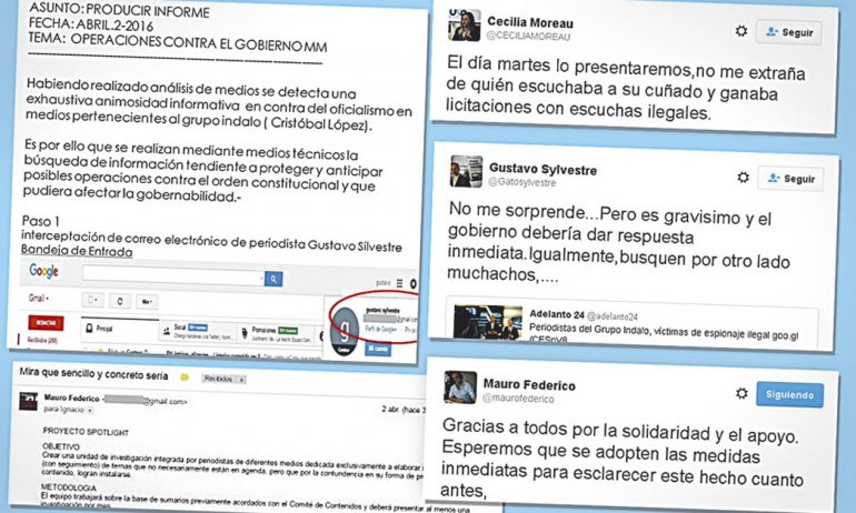 Los correos electrónicos de los periodistas Gustavo Sylvestre y Mauro Federico fueron hackeados e incorporados a un parte de inteligencia.