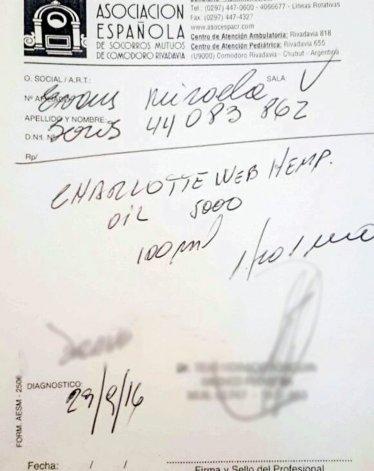 La primera receta que prescribe el uso medicinal de aceite de cannabis se expidió en Comodoro y ya fue presentada en SEROS.