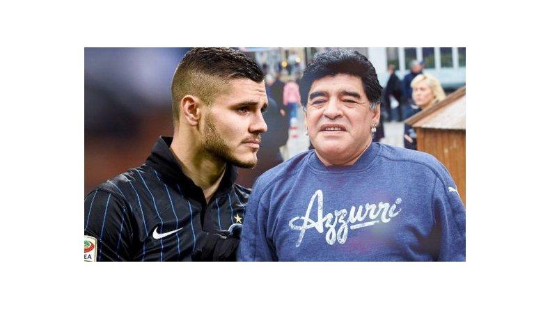 Maradona volvió a atacar a Icardi, que no se quedó callado