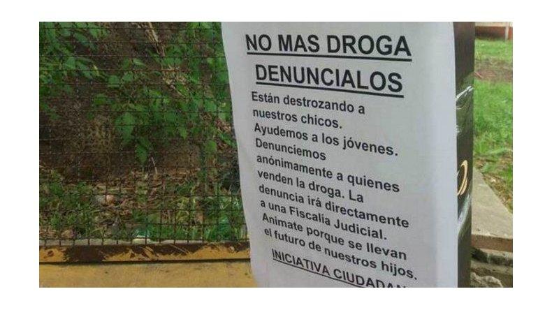 Vecinos instalaron urnas en La Plata para denunciar kioscos de droga