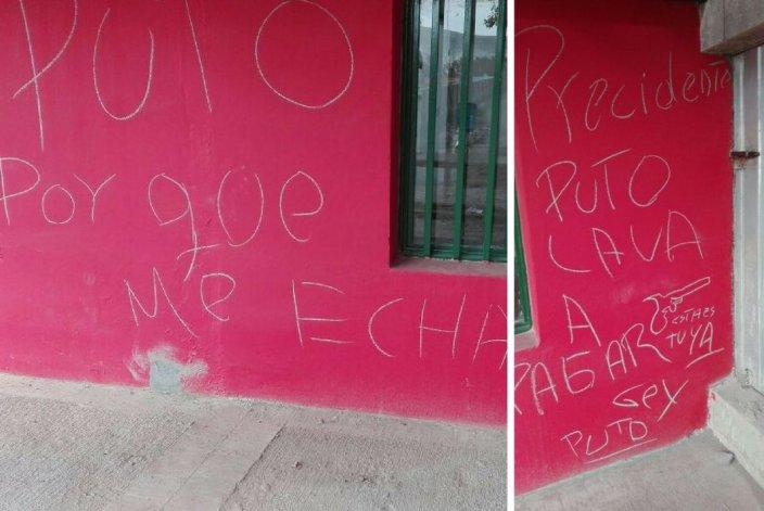 Amenazaron con pintadas al presidente de Portugués