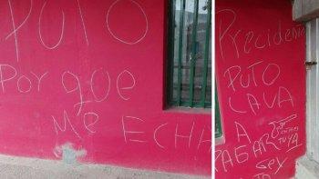 amenazaron con pintadas al presidente de portugues