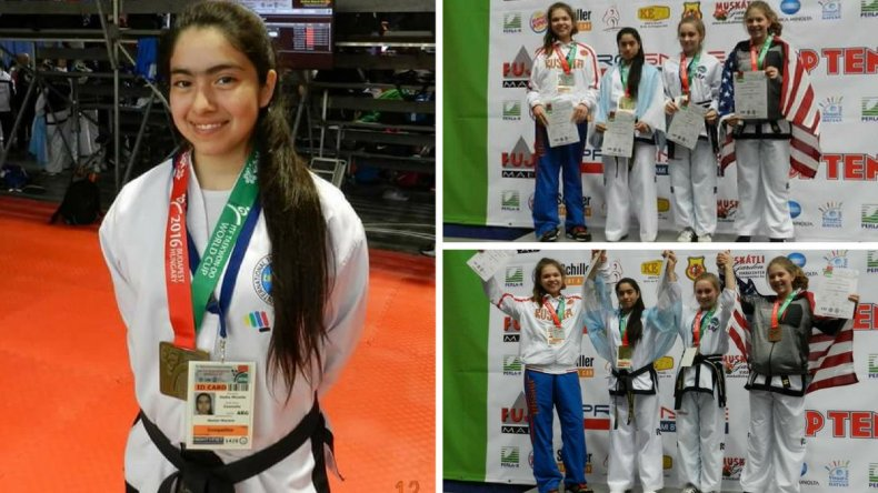 Otra comodorense campeona mundial de Taekwondo