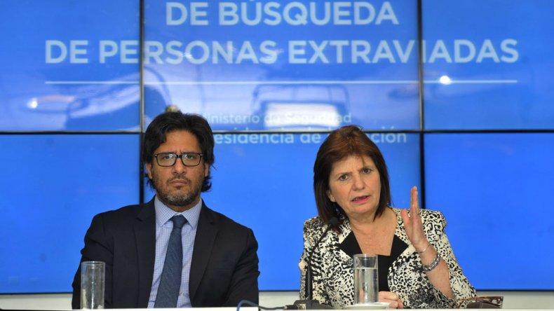 Garavano y Bullrich presentaron el Sistema Federal de Búsqueda de Personas Extraviadas.