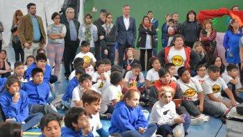 La iniciativa reunió a chicos de los barrios Abásolo, San Martín, San Cayetano y La Floresta.