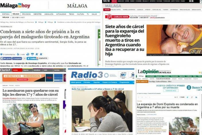 Los medios nacionales y españoles hablan de las condenas
