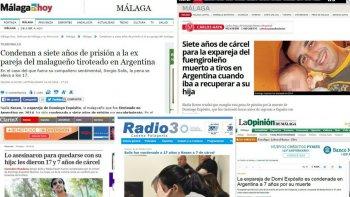los medios nacionales y espanoles hablan de las condenas