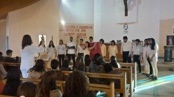 El último fin de semana, el grupo coral Amancay abrió el ciclo de conciertos corales en la capilla del barrio Stella Maris.