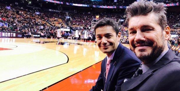 La emoción de Marcelo Tinelli por el partido histórico de San Lorenzo con un equipo de la NBA