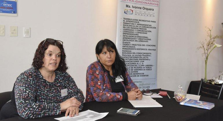 Emilia Alvarado y María Ivonne Orquera presentaron el sábado la formación en Coaching Ontológico que brindará la Escuela Tiempo Cero.
