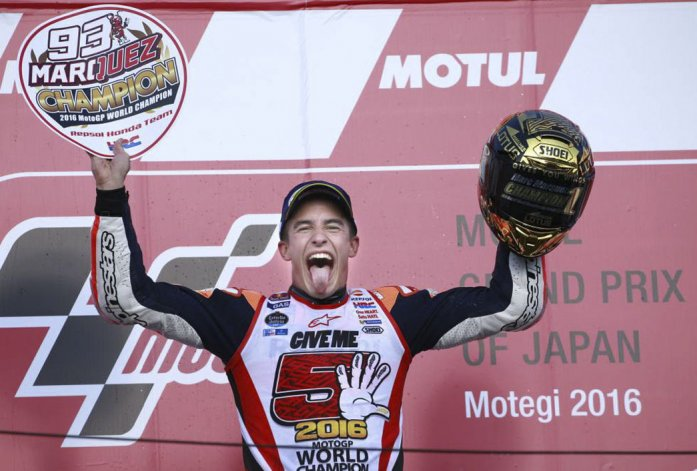 Márquez se coronó campeón  por tercera vez del Moto GP