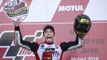 marquez se corono campeon  por tercera vez del moto gp