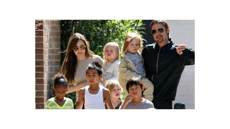 Brad Pitt se reencontró con sus hijos a tres semanas de su divorcio