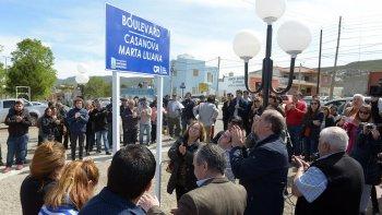 inauguraron un bulevar en homenaje a marta liliana casanova