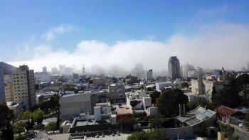 bancos de niebla cubrieron gran parte de comodoro