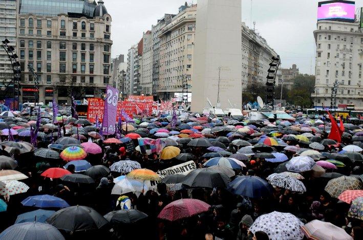 Multitudinaria marcha en Buenos Aires