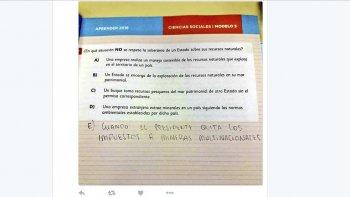 Los estudiantes hicieron notar su repudio a la evaluación Aprender.