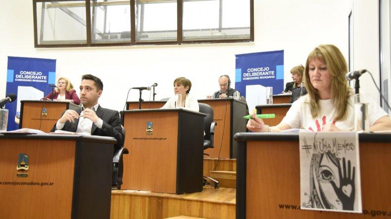 La sesión de ayer en el Concejo Deliberante.