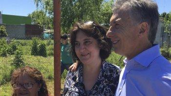El Presidente visitó a vecinos de la localidad bonaerense de Magdalena.