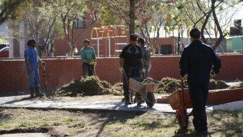 Además de la limpieza del Paseo Costero y del Paseo Aeróbico del Liceo  Militar, se realizó el saneamiento de plazas en la zona norte.