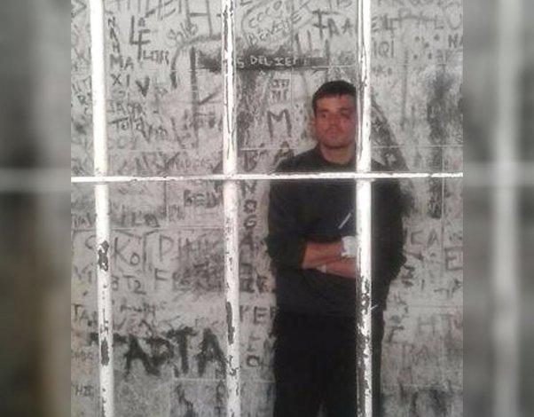Así está detenido Daniel Zalazar