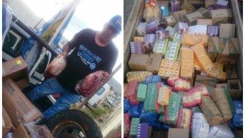 donaron alimentos y mas de 100 kilos de carne para los trabajadores de guilford