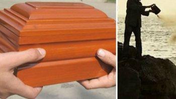 la iglesia rechazo la cremacion, esparcir las cenizas y conservarlas en el hogar