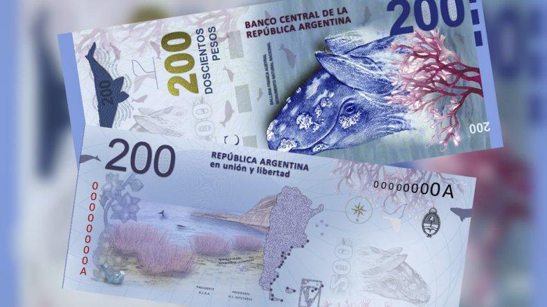 Presentan el billete de 200 en Puerto Madryn