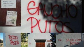 indignacion de vecinos de ciudadela por pintadas en la iglesia