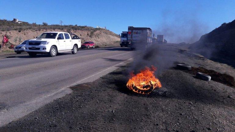 La Ruta 3 permaneció cortada por más de 10 horas
