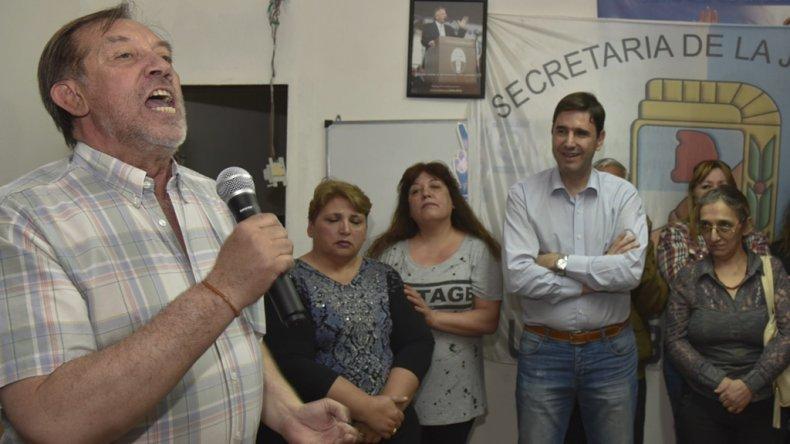 Pedro Galarza pronunció un encendido discurso en el lanzamiento de su candidatura.