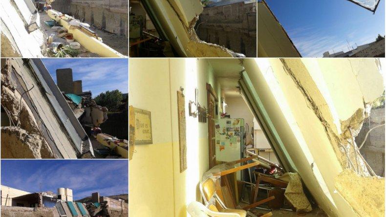 Por una obra en construcción se derrumbó parte de su casa