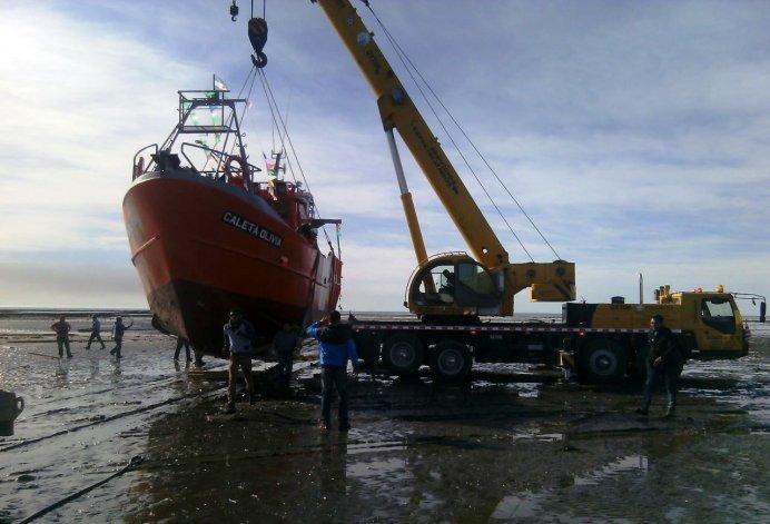 Ya está en el mar el primer buque pesquero construido en Comodoro