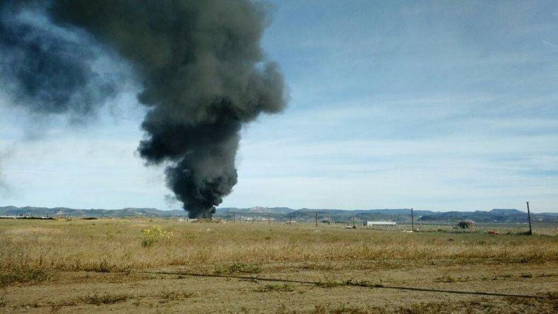 Una quema de cubiertas en el kartódromo de Km 9 movilizó a bomberos