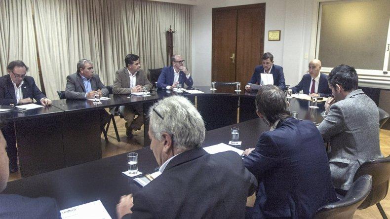 La reunión que se desarrolló ayer en Buenos Aires con funcionarios de Nación y Provincia.