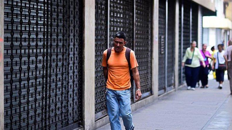 Parcial acatamiento a la huelga general de ayer en Venezuela.