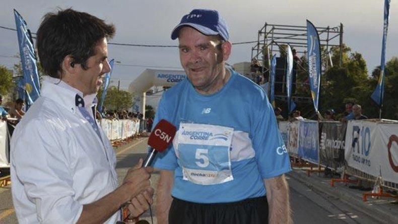 Cachito y una entrevista por C5N para todo el país en una de las ediciones de Argentina Corre.