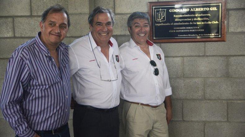 Ayer quedó inaugurado el gimnasio Alberto Gil del club Deportivo Portugués con la presencia del intendente Carlos Linares.