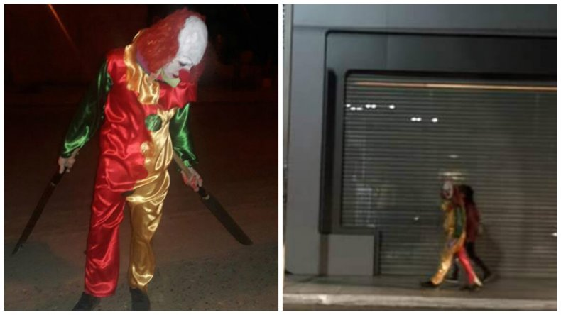 Los payasos asesinos se divierten en las calles de Comodoro