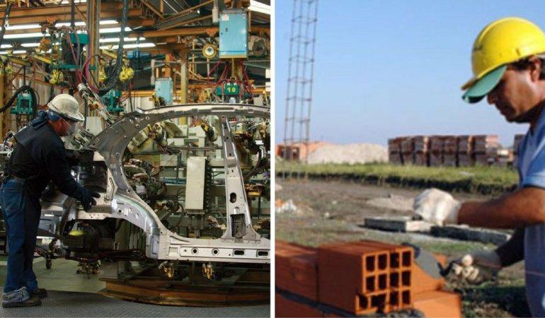 En septiembre cayeron la construcción y la industria de manera estrepitosa