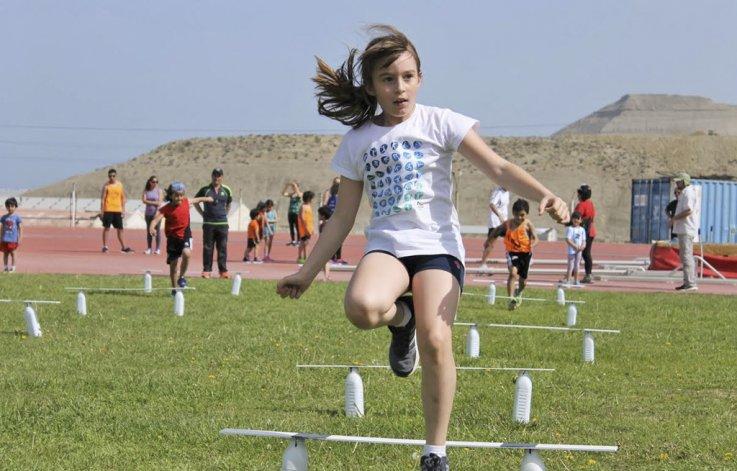 El salto en largo fue una de las competencias que tuvo el campeonato promocional.