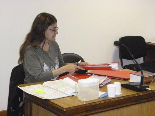 La funcionaria fiscal Marisol Sandoval presentó la imputación en representación del Ministerio Público.