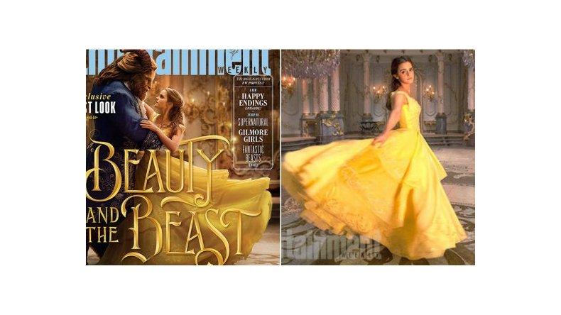 Las primeras imágenes de Emma Watson personificando a La bella